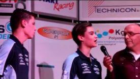 Jaimie van Sikkelerus met wildcard aan de start tijdens het W.K SBK in Assen
